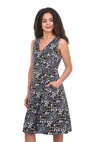 Tulip Myla Dress, Black Bouquet