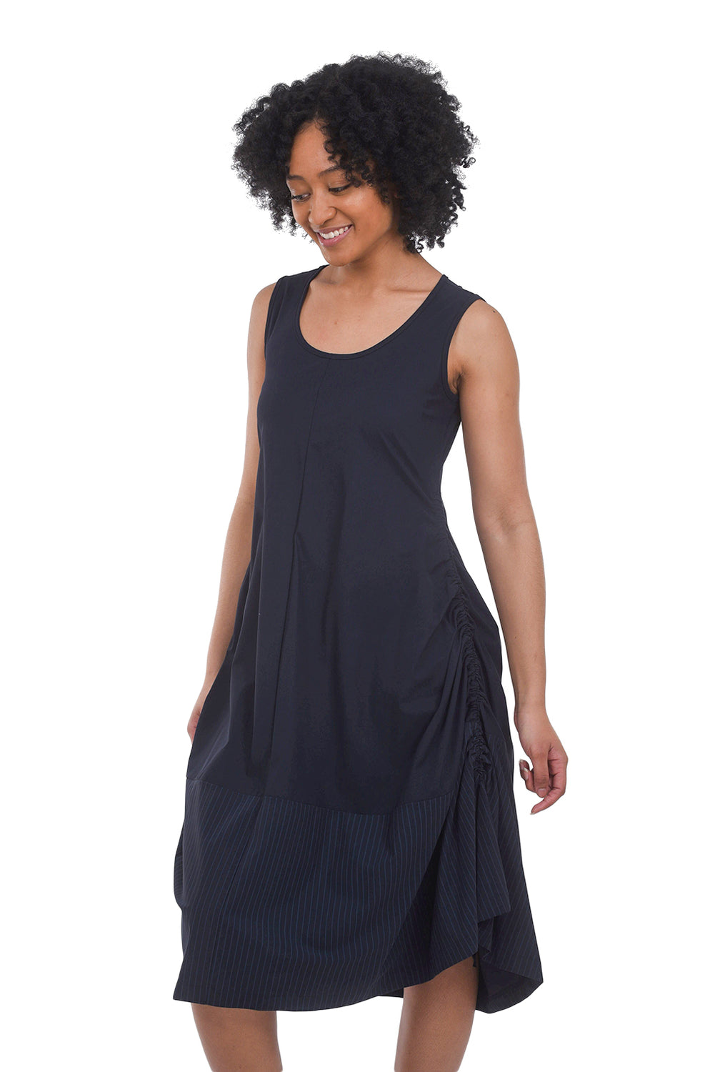 Porto Tiptoe Dress, Deep Blue