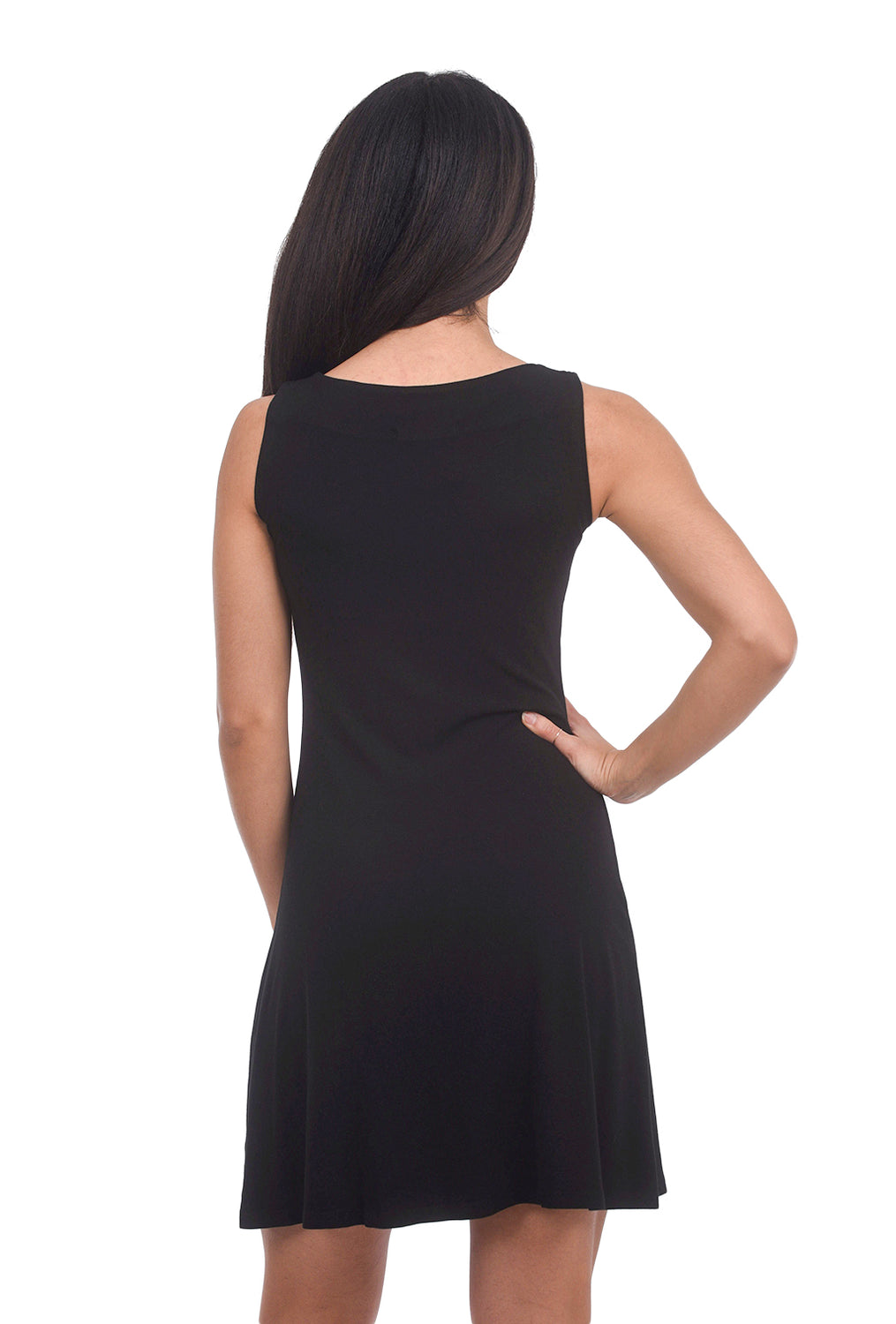 Cut Loose Jersey LBD Dress, Black