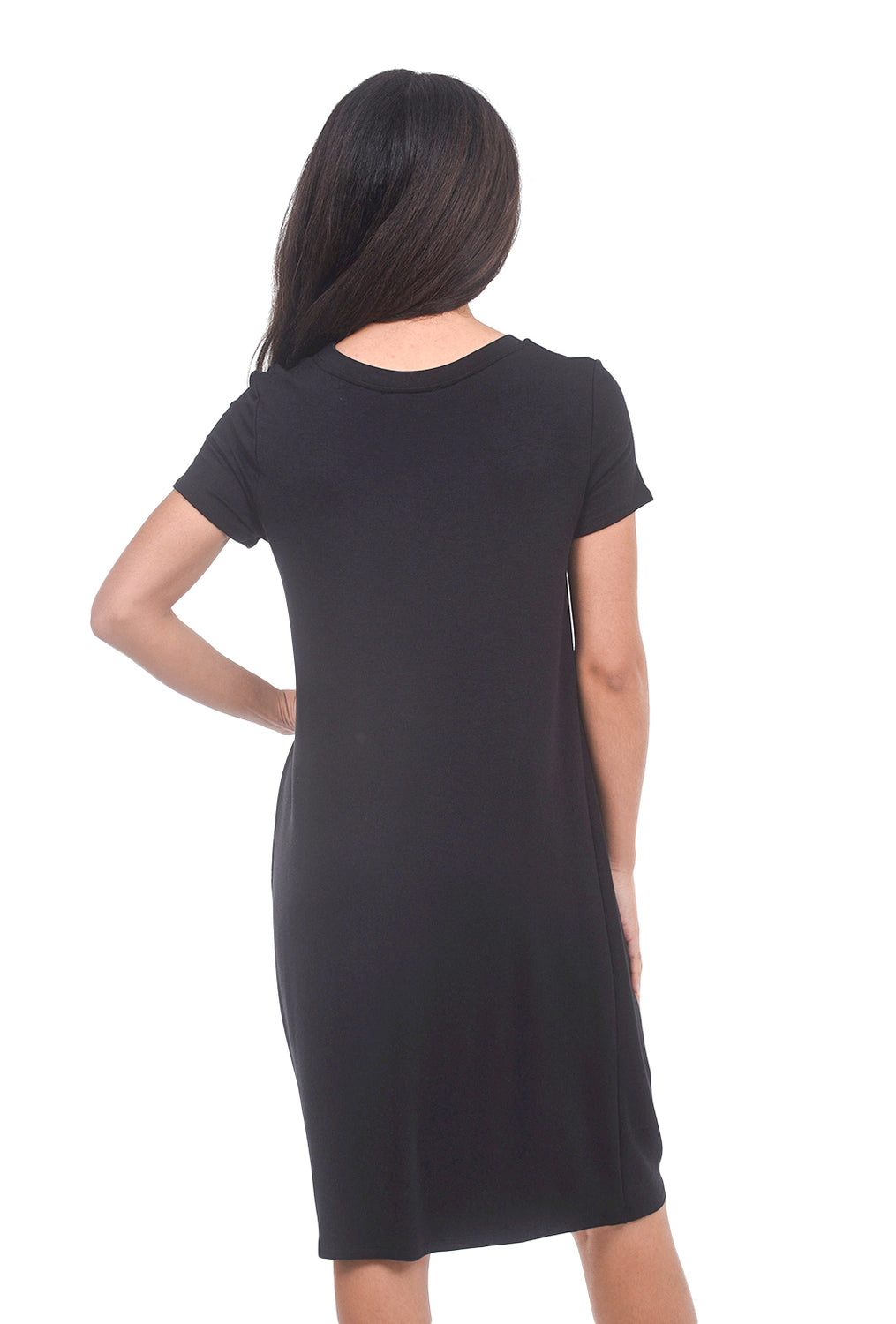 COA Twist Bottom T-Shirt Dress, Washed Black