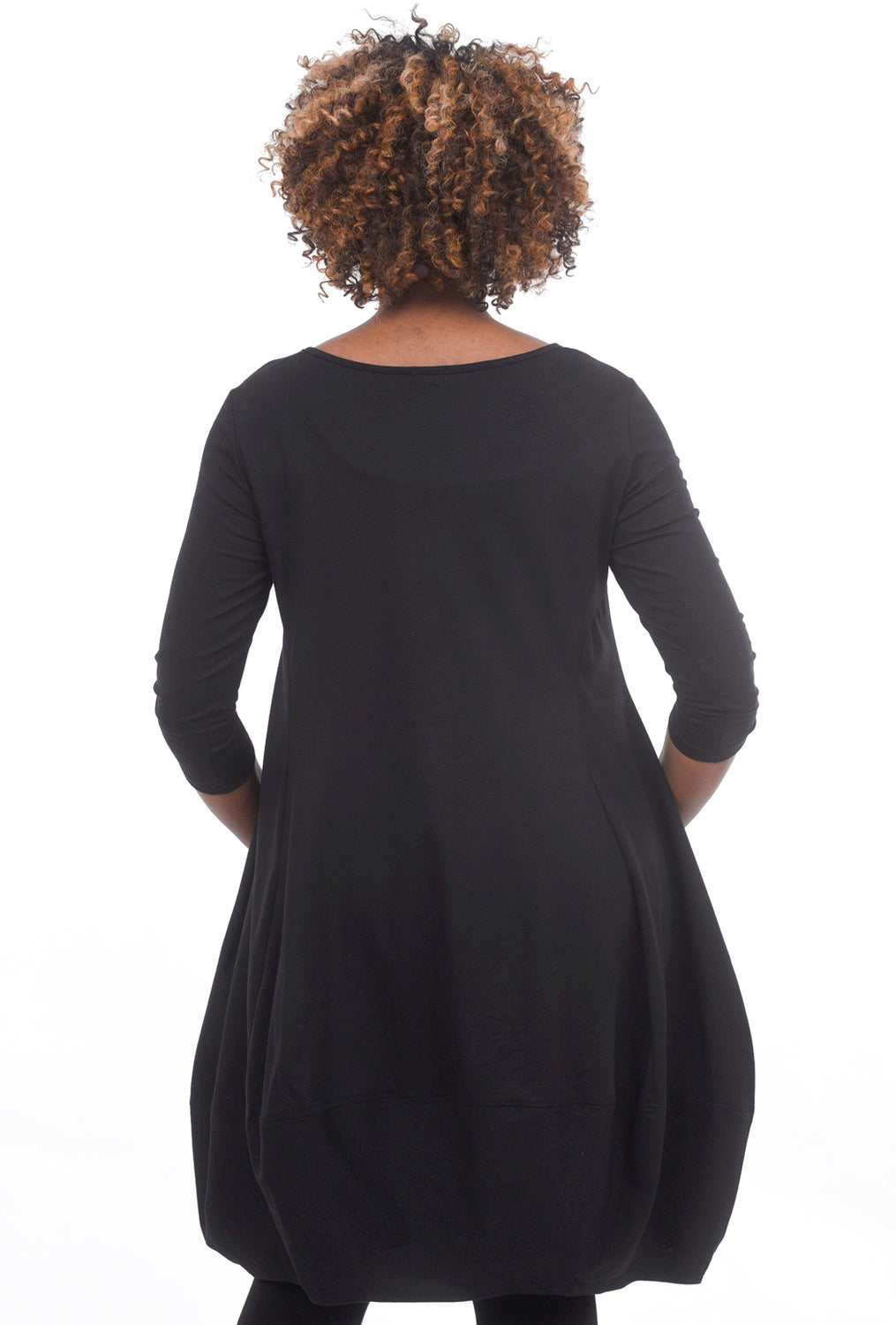 Just Jill Knit Jersey Tulip Dress, Black
