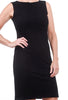 Eva Varro Pebbled Sheath Dress, Black