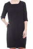 Niche Flute Dress, Black