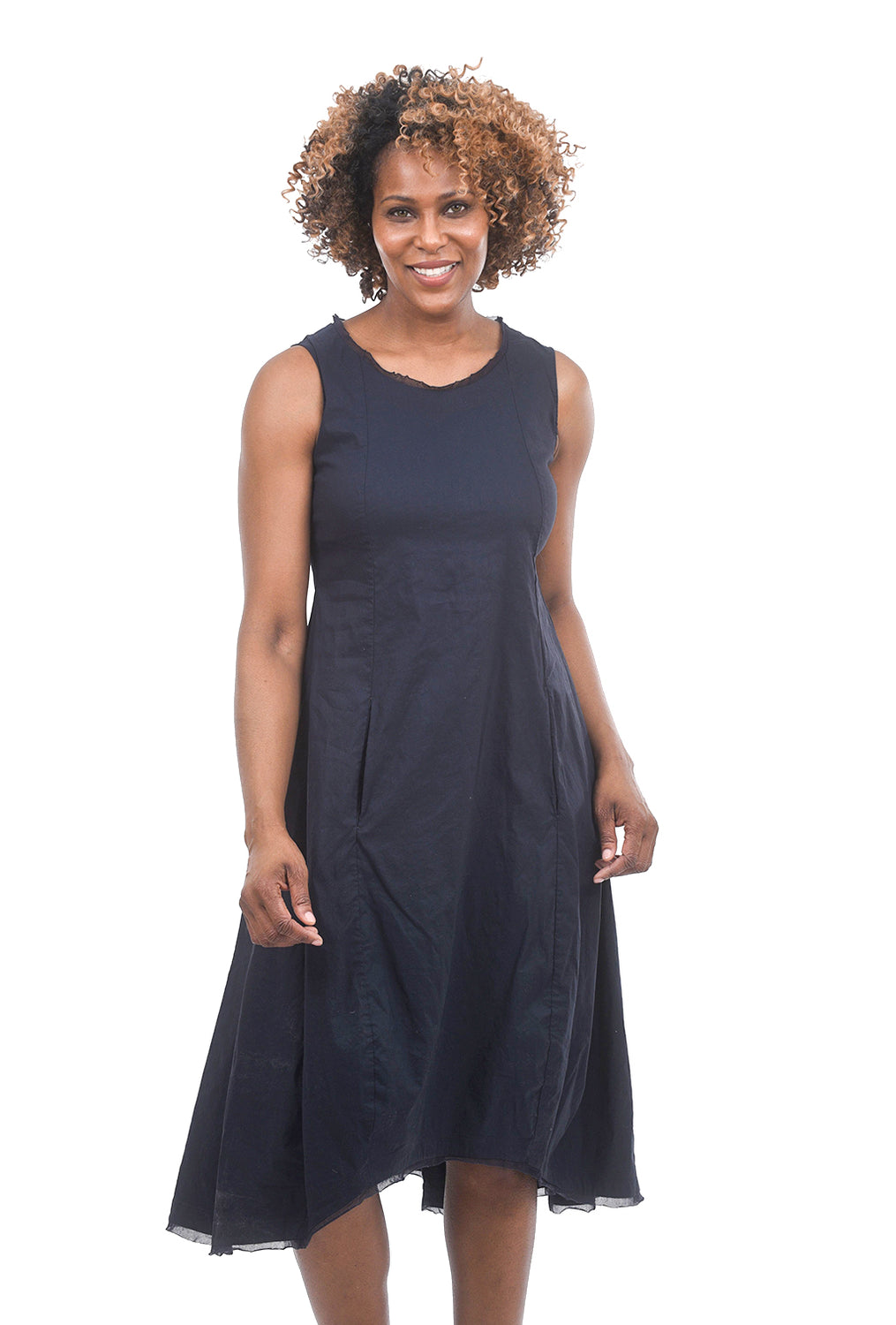 Rundholz Black Label Stretch Twill Tulle Trim Dress, Martinique