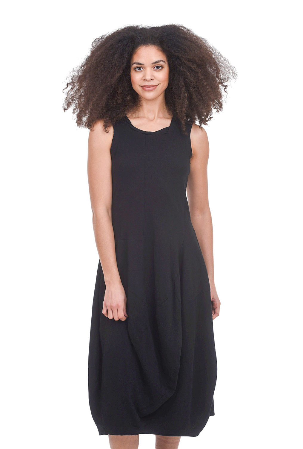 Rundholz Black Label Easy Jersey Lantern Dress, Black