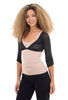 Sleevey Wonders Shirred 3/4-Sleeve Mesh Sleevey, Black
