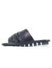 Trippen Shoes Drift Closed Slides, Black VST