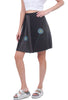 Sardine Clothing Company Shorter Recycled Tee Skirt, Black/Gray Poppy