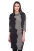 Kedziorek Winter Linen Texture Dress, Black