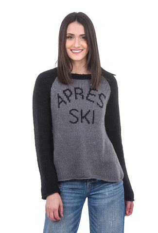 Wooden Ships Apres Ski Sweater, Gray/Black