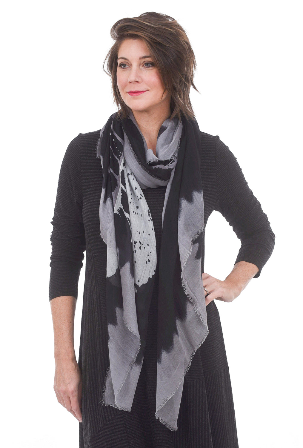 Blue Pacific Guitar Scarf, Black/Gray