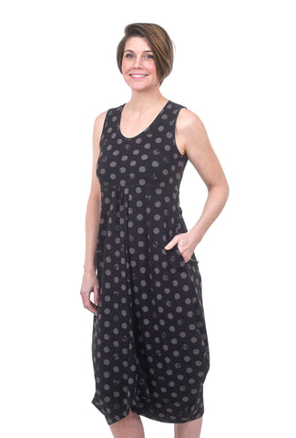 Porto Chorus Dress/Jumpsuit, Latte Edo Dot Print