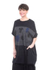 Moyuru Jersey Inset Print Dress, Black One Size Black