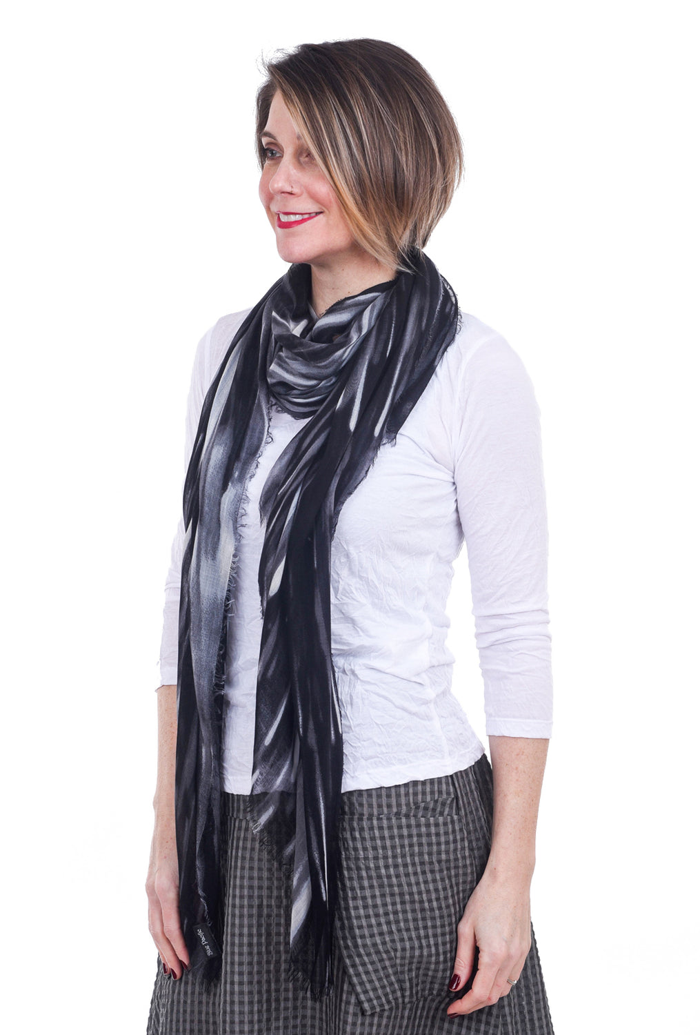 Blue Pacific Rain Scarf, Black One Size Black