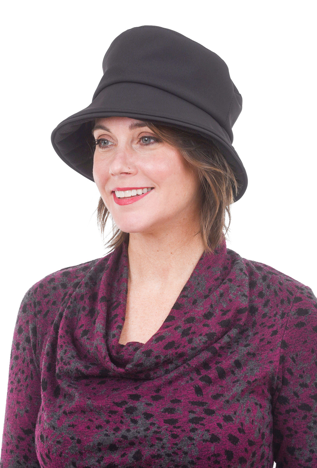 Lillie & Cohoe Hats Cloudburst Stormy Hat, Black