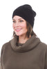 Sardine Clothing Company Recycled Cashmere Hat, Blacks One Size Black