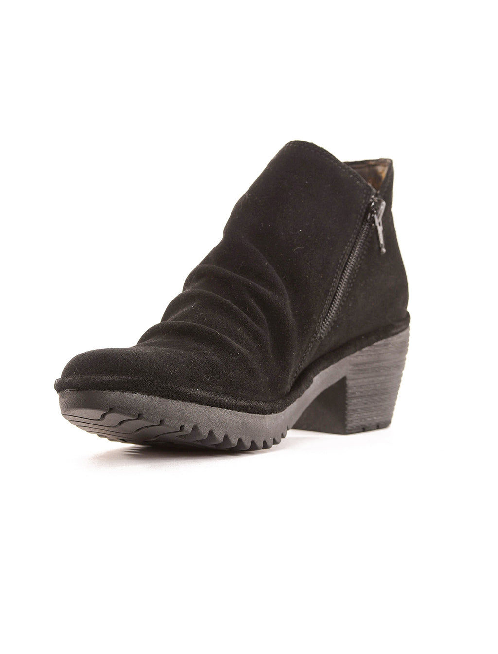 Fly London Wezo Suede Ankle Booties, Black