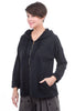 Oro Bonito Fleece Zip Hoodie, Black One Size Black