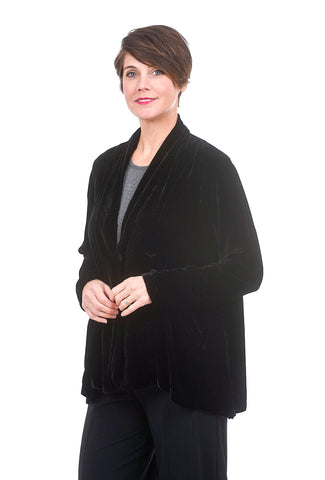CP Shades Velvet Emilie Jacket, Black