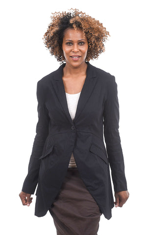 Rundholz Collection Sleek Swallowtail Jacket, Black