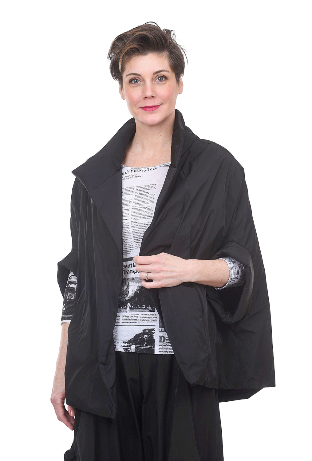 Planet Chic Tech Cape, Black One Size Black