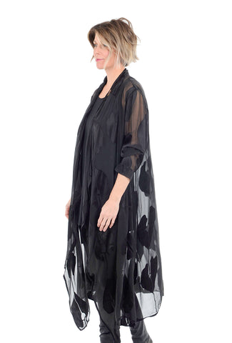 Grizas Silk Burnout Duster, Black