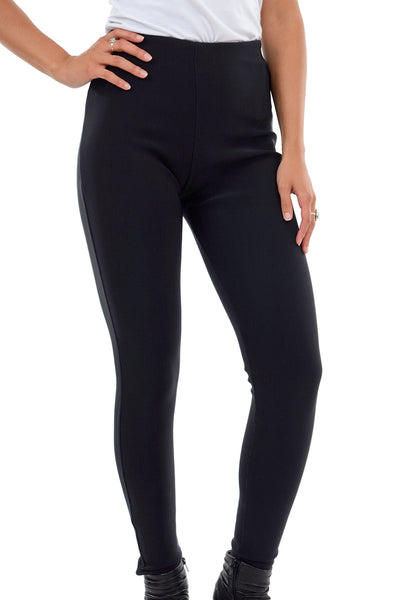 Equestrian Ribbed Deonna Legging, Black