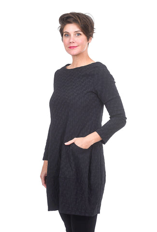 Niche Diamond Tunic, Black
