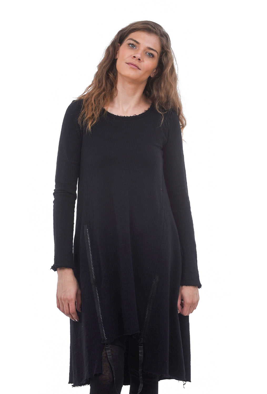 Studio B3 Formosa French Terry Dress, Black