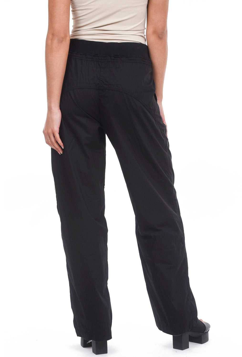 Rundholz Black Label Kate Poplin Pants, Black