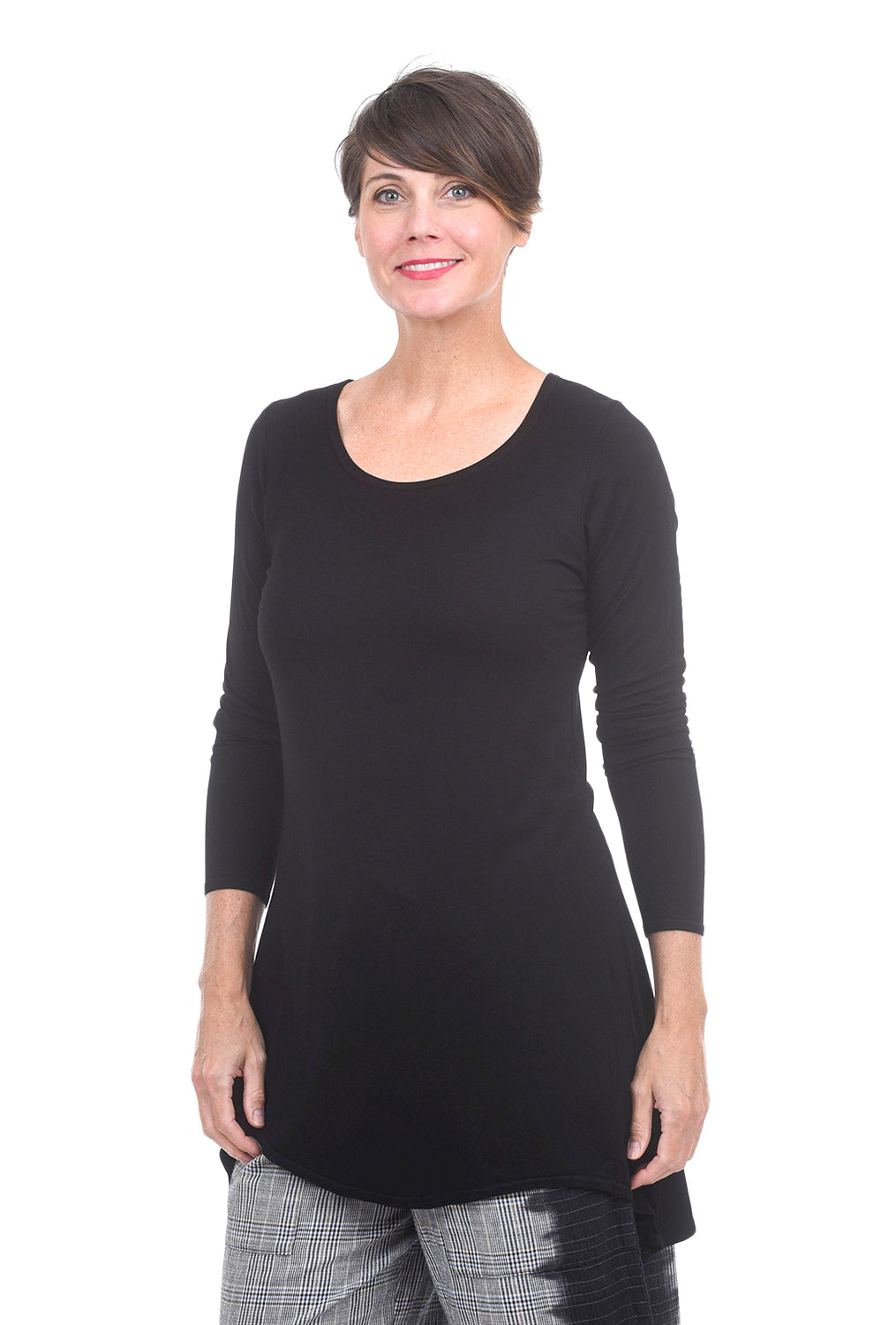 Cynthia Ashby Soft Swerve T-Shirt, Black