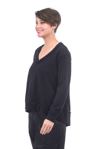 Wilt Inside-Out Deep V Sweatshirt, Twilight Blue