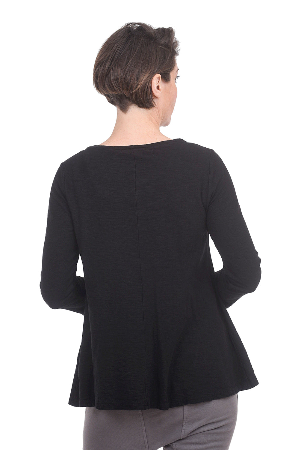 Cut Loose LJ Peplum Tee, Black