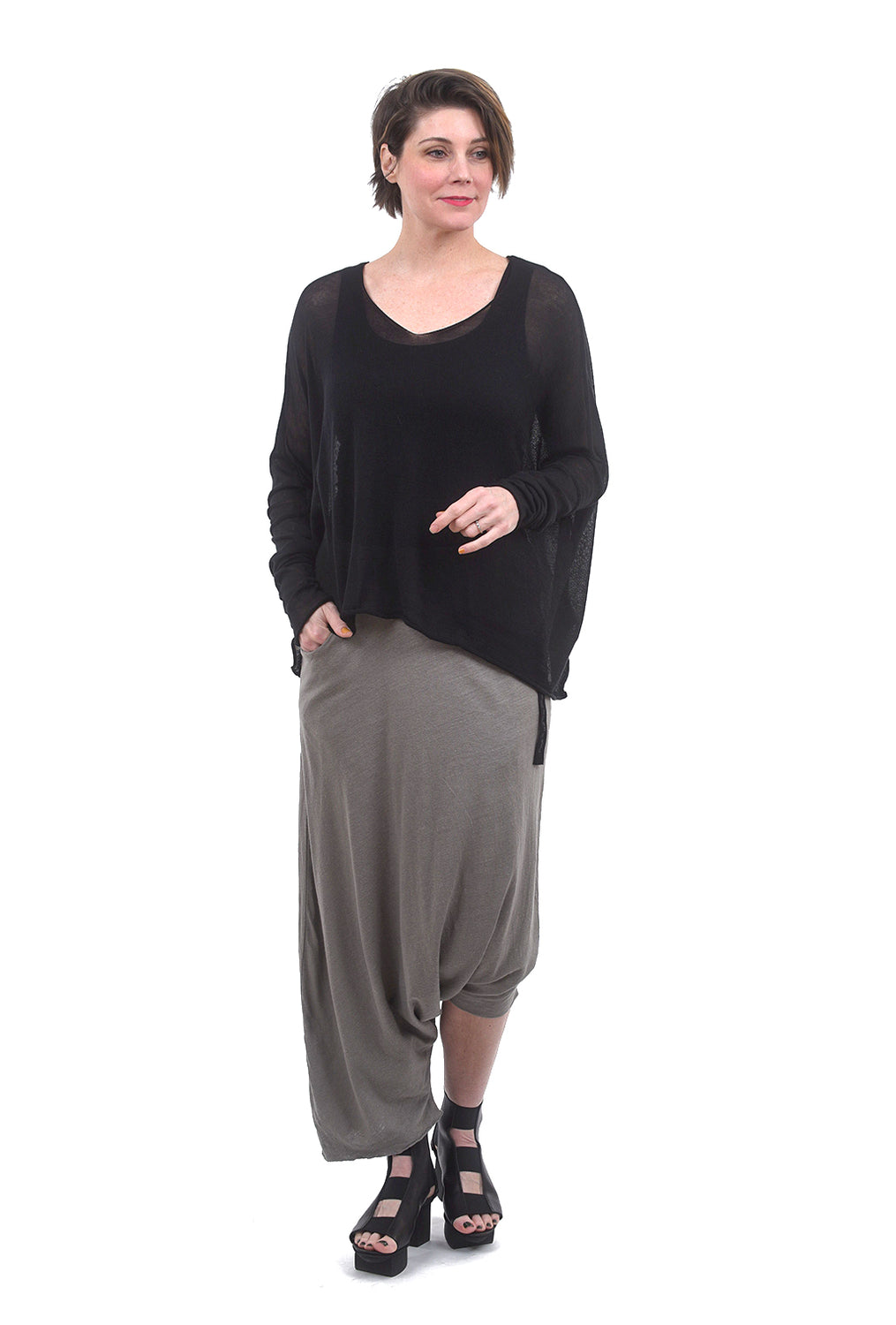 Studio B3 Saraya Oversize Sweater, Black One Size Black