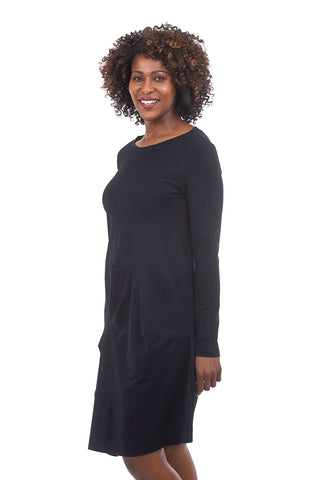 Veronique Miljkovitch Willow French Fleece Dress, Black