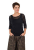 Comfy USA 3/4-Sleeve Mesh Tee, Black