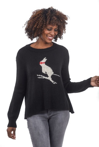 Wooden Ships Ski Bunny Sweater, Black