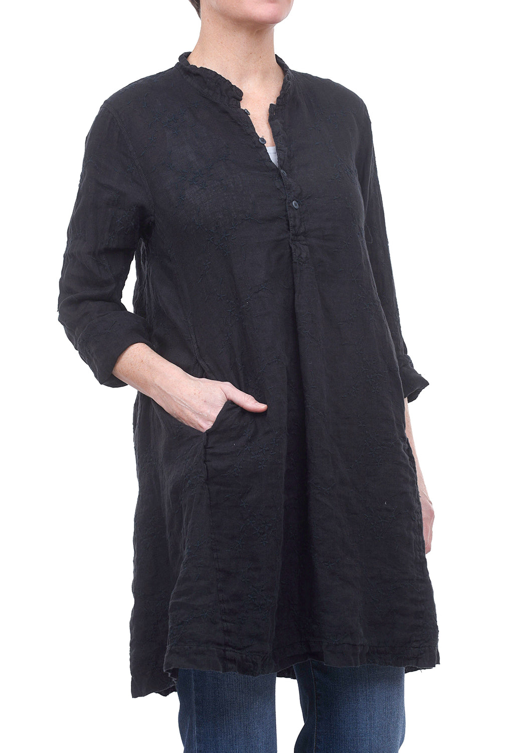 CP Shades Embroidered Jasmine Tunic, Navy Ink