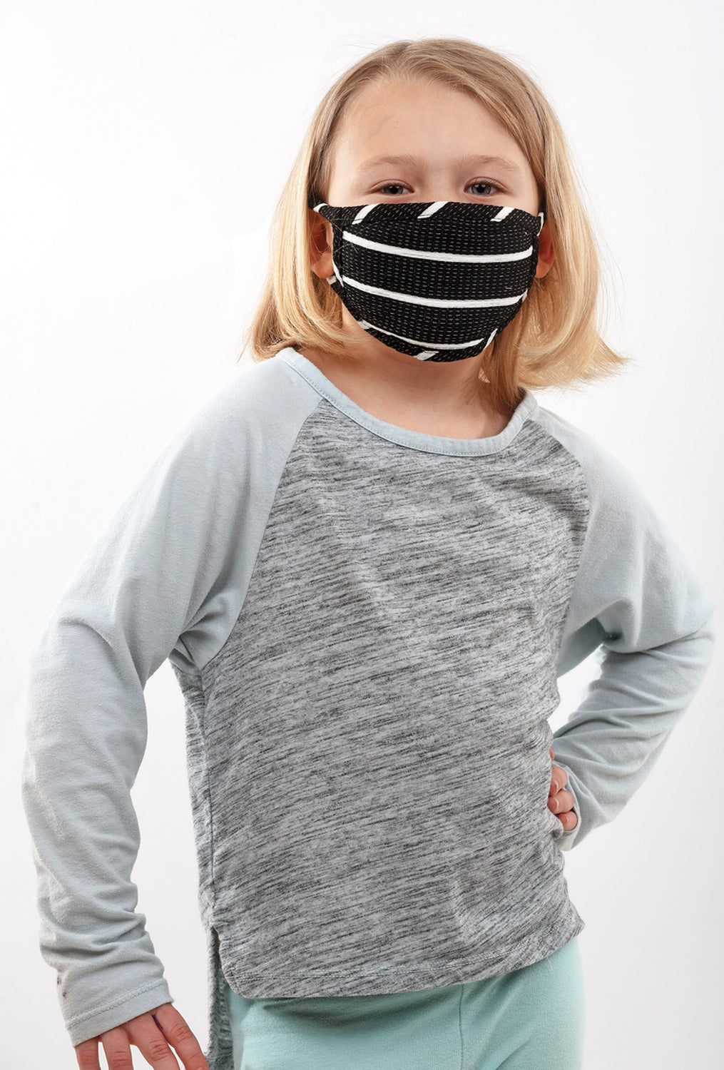 Coin1804 Kiddie Coin Face Mask, Black Stripe