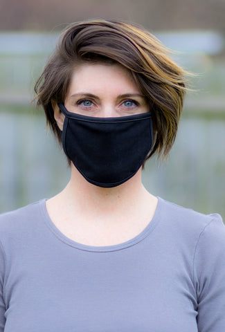 Coin1804 Cotton Jersey Face Mask, Black