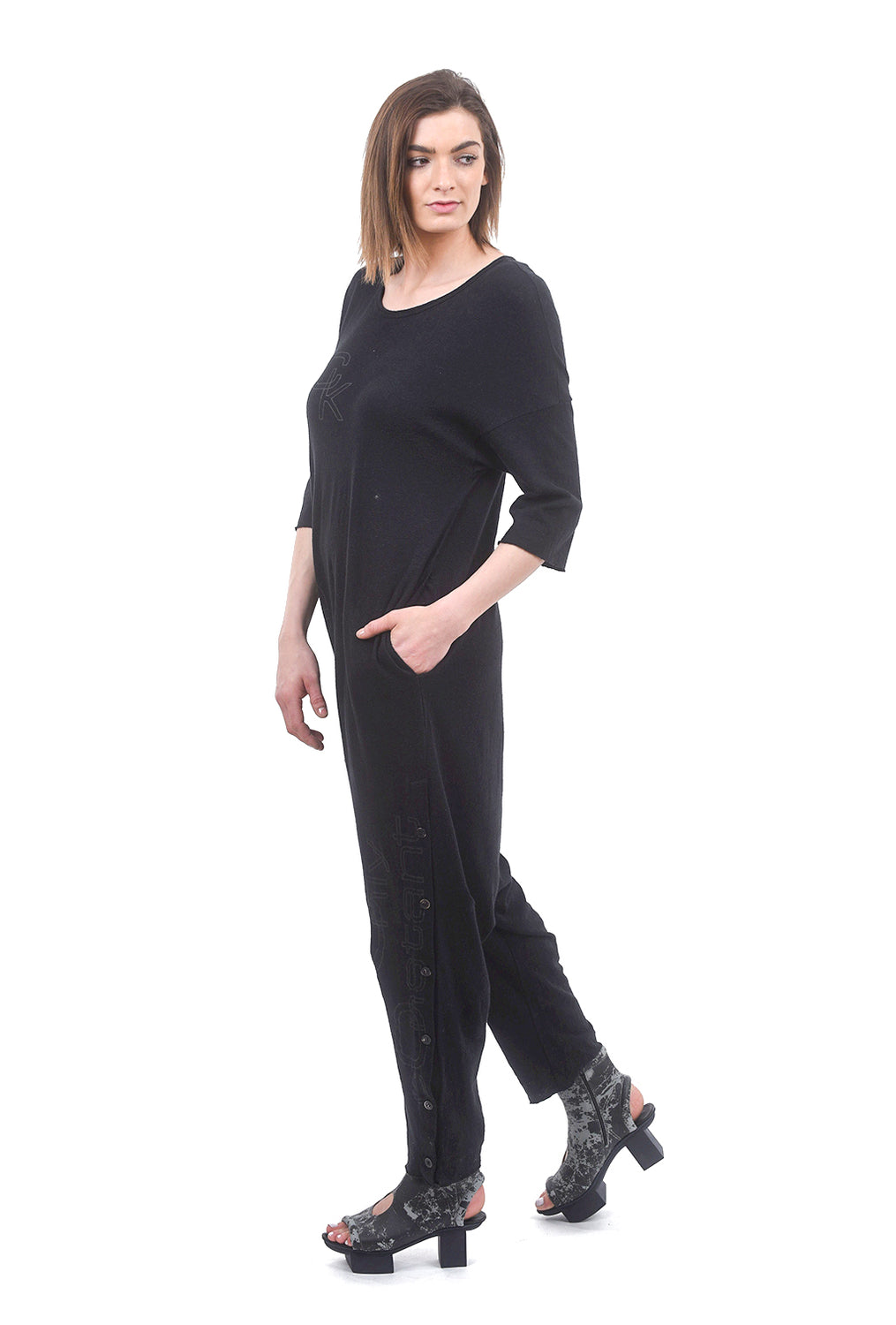 Studio B3 Lontavo Oversized Jumpsuit, Black