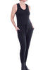 Enza Costa Outrageously Cozy Jumpsuit, Black