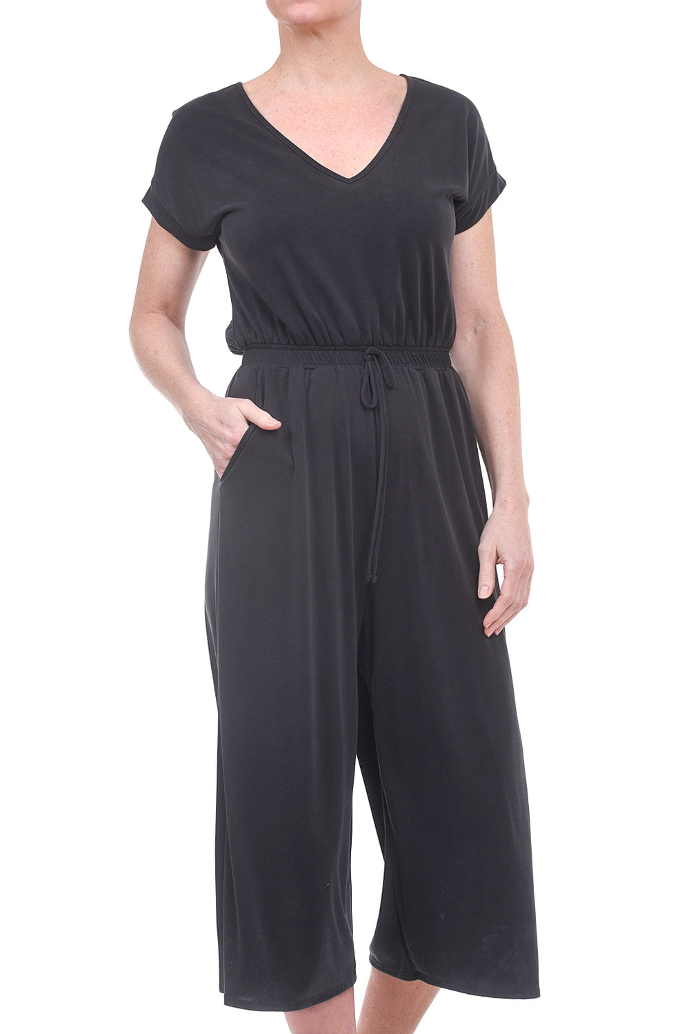 COA Raputa Easy Midi Jumpsuit, Washed Black