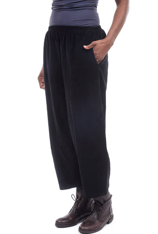 Cut Loose Cord Lantern Pants, Black