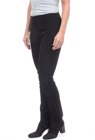 Estelle & Finn Sleek Side Zip Pants, Black