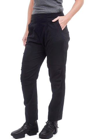 Rundholz Black Label Knee Detail Stretch Pant, Black