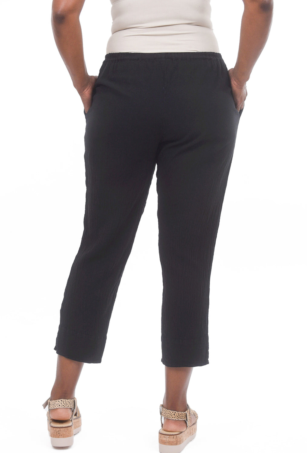 Oh My Gauze Fiona Pants, Black