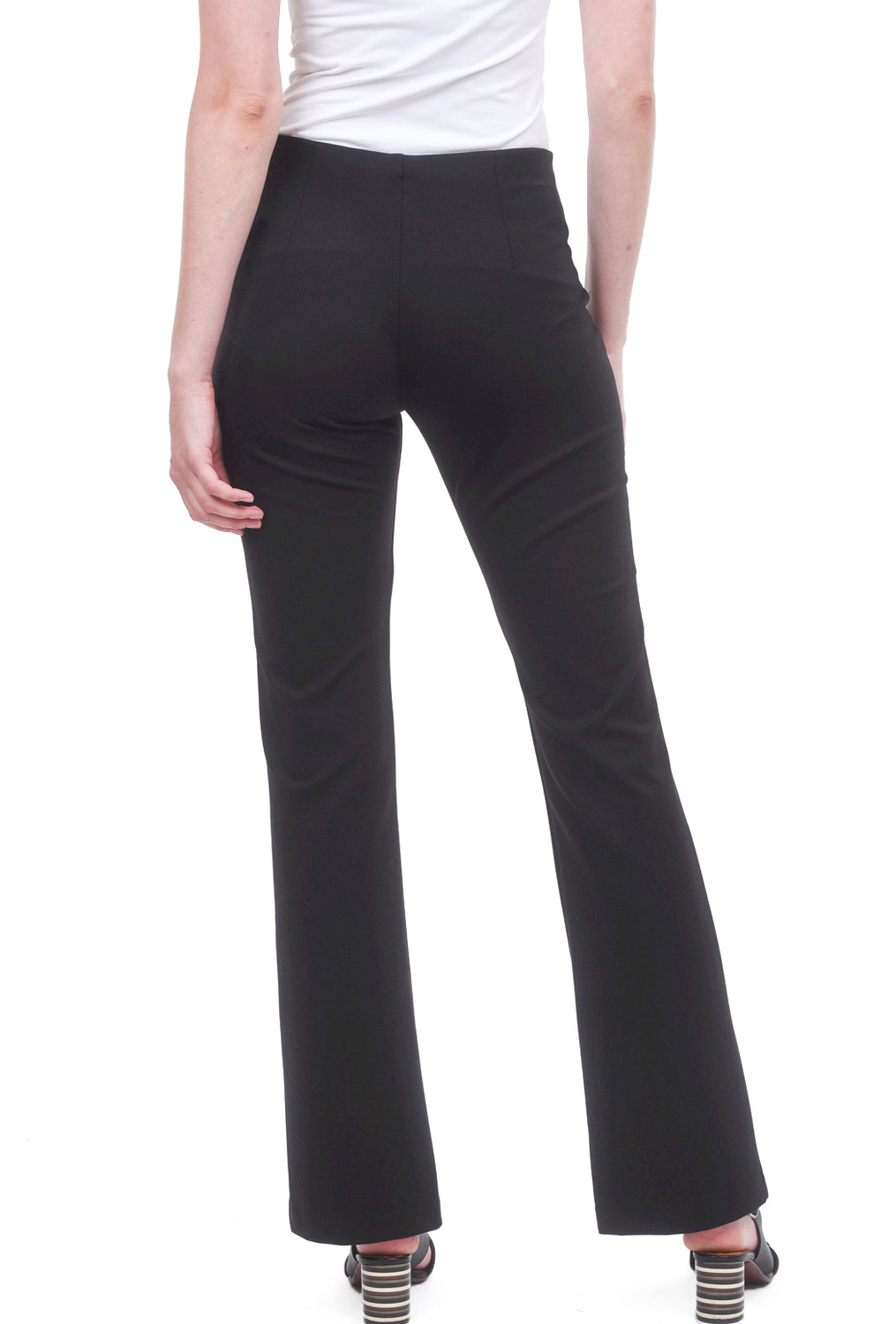 Equestrian Ponte Knit Miley Pants, Black