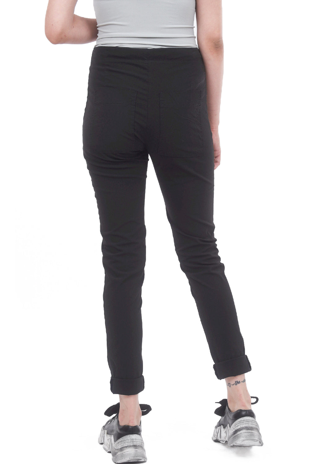 Rundholz Black Label Stretch Twill Pocket Skinnies, Black