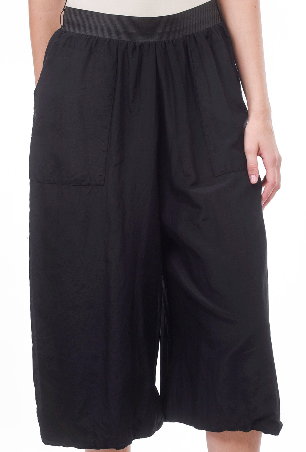 Veronique Miljkovitch Nadine Silk-Cotton Pants, Black